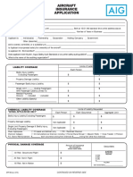 Aerospace Aircraft Insurance Application Form