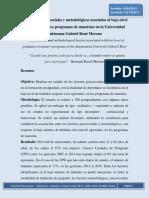 Factores Psicosociales y Metodológicos Asociados Al Bajo Nivel de Titulados en Los Programas de Maestría en La Universidad Autónoma Gabriel René Moreno