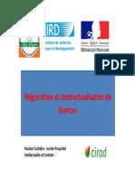 Négociation Contractualisation Licences