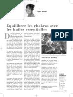 Lydia Bosson_Équilibrer Les Chakras Avec Les Huiles_article_juin08