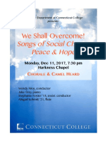 Fall 2017 Connecticut College Choir Concert-We Shall Overcome