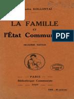 Alexandra Kollontai - La Famille Et l'État Communiste
