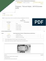 Main Pump (Destroke Pressure) - Test and Adjust..