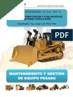 Informe Del Tractor D8T -  Proyecto Integrador