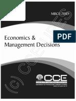 Economics and Management Decions