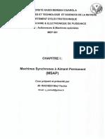 Chapitre1 Machine Synchrone à Aimant Permanent