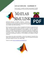 Interfaz Matlab Simulink - Raspberry Pi