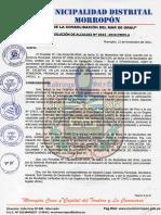 Resolucion de Trazado y Lotizacion Paranday