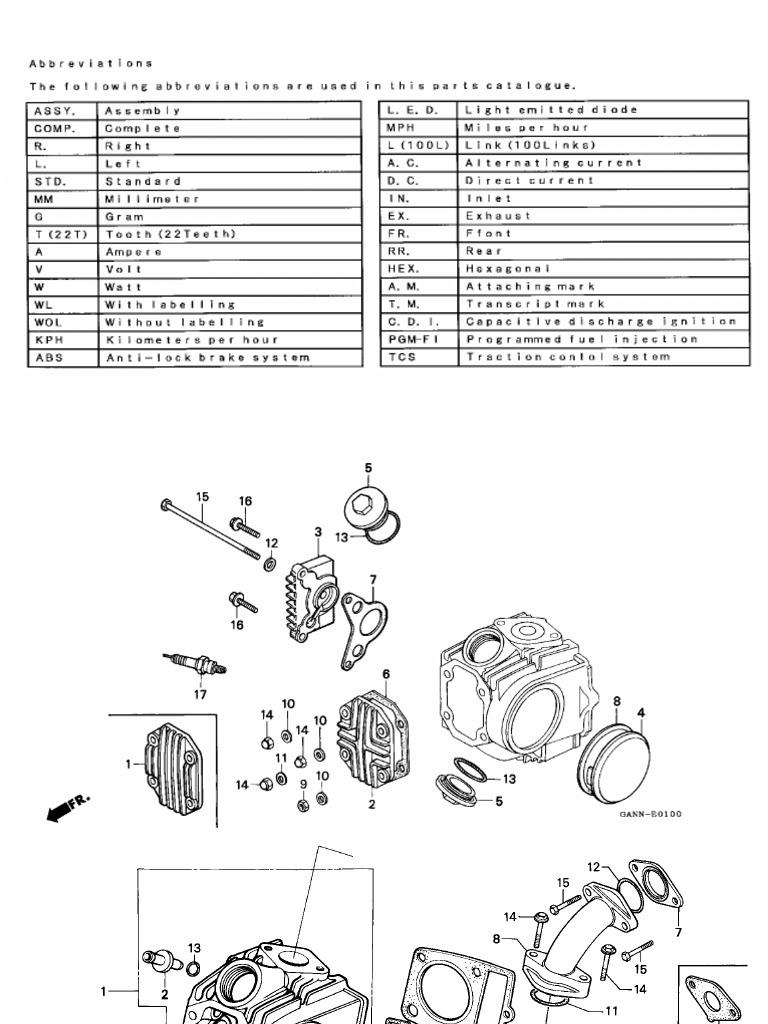 Manuales De Taller Usuario Honda DAX 70 Despiece