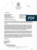 Letter From Minister Miranda to Mayor Iveson re