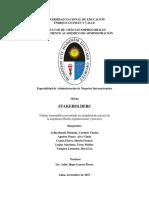 Monografía de Stakeholders
