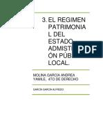 Regimen Patrimonial Del Estado Tema 3 Terminada