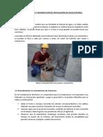 3. Inspección, Prueba y Desinfección de Instalación de Agua Potable.