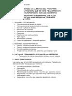 Las Actividades en El Marco Del Programa Articulado Nutricional Que Se Viene Realizando en La Ipress Huacrapuquio Son Los Siguientes