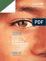 Informe de Situacion de La NNA en El Salvador