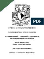 Cultura de Masas y Cibercultura