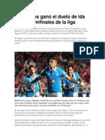 Millonarios Ganó El Duelo de Ida de Las Semifinales de La Liga