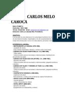 Curriculum Carlos Melo