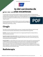 Tratamiento Del Carcinoma de Piel de Células Escamosas