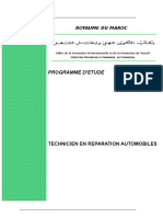 Programme d'ÉtudesTREMoption Auto