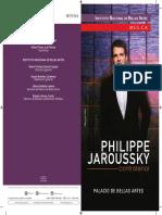 Programa Philippe Jaroussky Palacio de Bellas Artes 2016