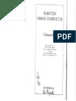 Bakunin, Mijaíl - Obras Completas (Vol. v) [Ed. La Piqueta, 1977]