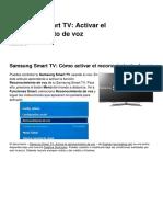 Samsung Smart Tv Activar El Reconocimiento de Voz 20637 Nlcbtj