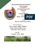 Plan de Exportacion de Pisco - 2016