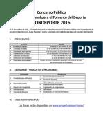 Resumen Practico Bases Fondeporte 2016