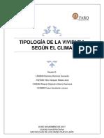 INTEGRADOR_Tipologia de La Vivienda Según El Clima