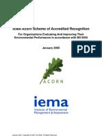 IEMA Acorn Recognition Scheme - Guidelines