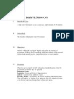 direct lesson plan