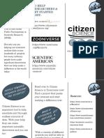 citizen science pamphlet 2017