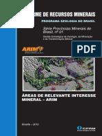 Informe de Recursos Minerais - Arim2015