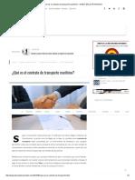 ¿Qué Es El Contrato de Transporte Marítimo_ - DIARIO DEL EXPORTADOR