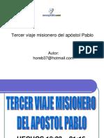 Tercer Viaje Misioneroapostol Pablo