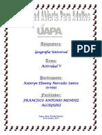 Tarea 5 Geografia Universal