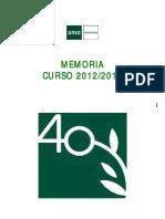 Memoria Caune d Ponte Vedra 20122013