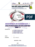 Resoluciion de Examenes Resistencia de Materiales 2009-i