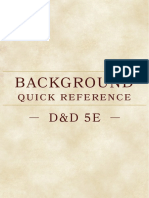 Background Quick Reference