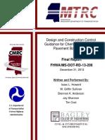 Fhwa Ms Dot Rd 13 206(Soil Cement)