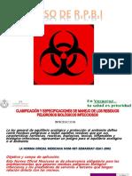 Clasificacion y Especificaciones de Manejo de Los Residuos 2015
