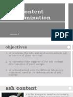 4. Ash Content Determination