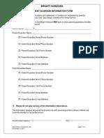 Parent Guardian Information Form_US