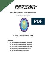 Plan Curricular 2012 - Derecho