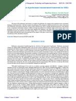 Development of performance measurement framework for SMEs