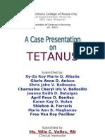 Tetanus Case Study