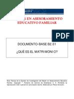MAEF B2[1].DB.01.Qué Es El Matrimonio