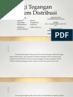 Rugi Tegangan Sistem Distribusi
