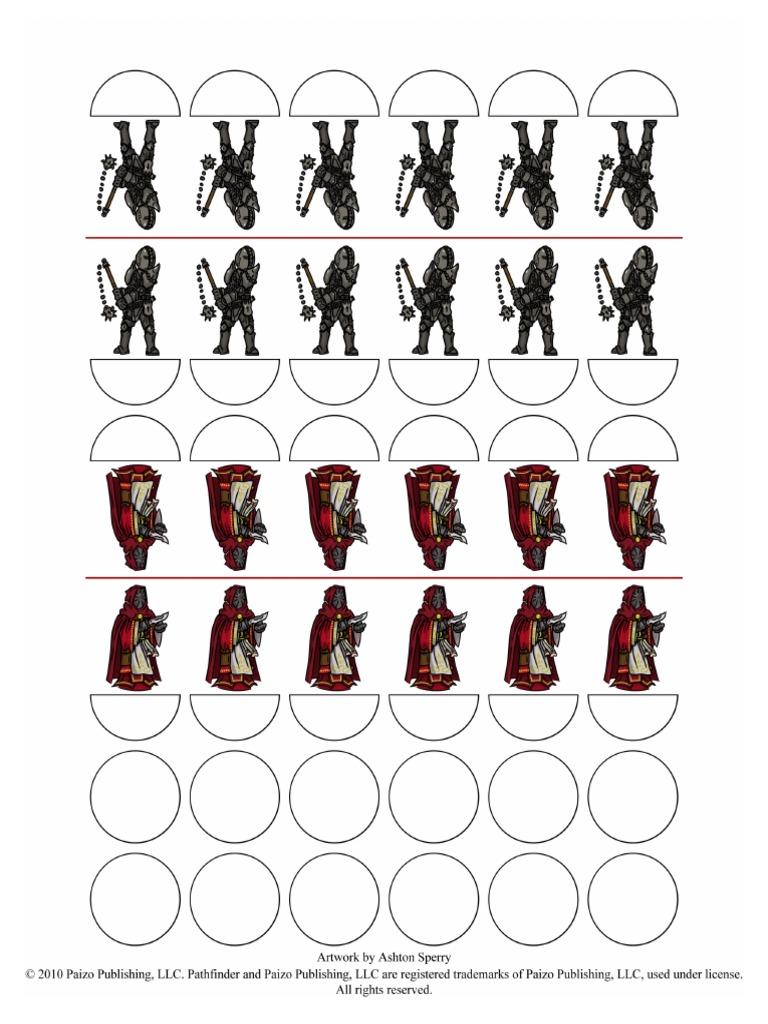 Pathfinder Paper Minis - Hellknights pdf